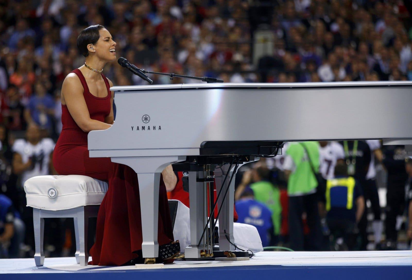 Alicia Keys no Super Bowl 2013