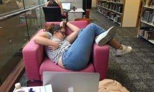 girl-falls-asleep-chair-university-library-photoshop-battle-7