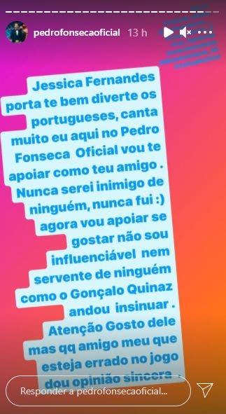 2021 02 15 10 Big Brother: Pedro Apoia Jéssica Fernandes E Manda Recado À Produção